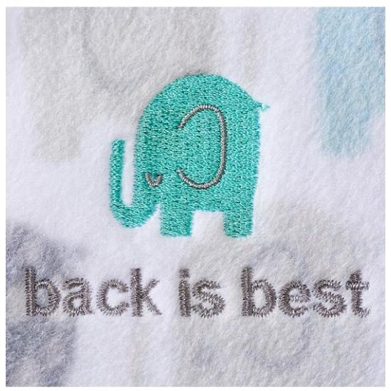 HALO SleepSack, Micro-Fleece - elephants texture print (Size L)