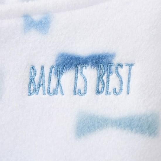HALO SleepSack Swaddle, Micro-Fleece - Blue Bowties