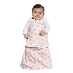 HALO SleepSack Swaddle, Cotton - Rose Toss Blush