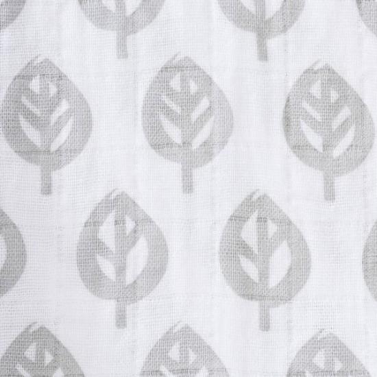 HALO SleepSack Swaddle, Cotton Muslin - Gray Tree Leaf