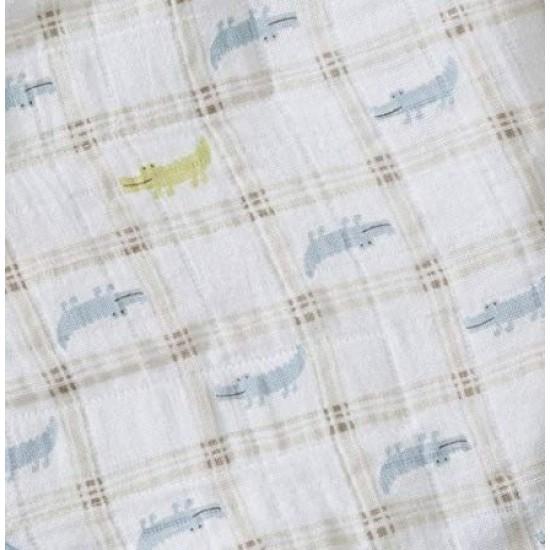 HALO SleepSack Swaddle, Cotton Muslin - Gator Plaid