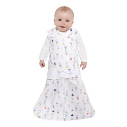 HALO SleepSack Swaddle, Cotton - Multi Triangle Print