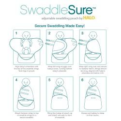 HALO SwaddleSure - Linear Elephant Print
