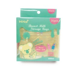 Hito Breastmilk Storage Bags - 200 ml x 30 pcs