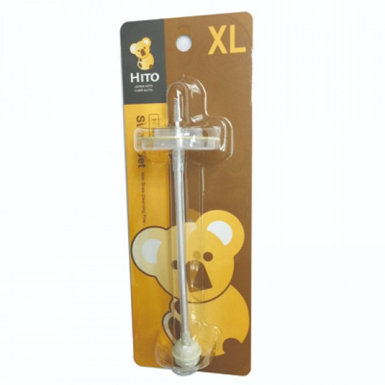 Hito Wide Neck Straw and brush set