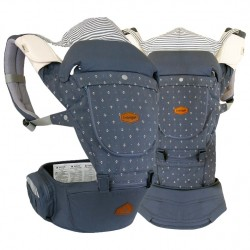 i-angel 4-in-1 New Miracle 4 Seasons Hip Seat Carrier - Stone Blue / Cotton