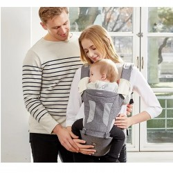 i-angel 2-in-1 New Magic 7 Folding Hip Seat Carrier - Melange Grey