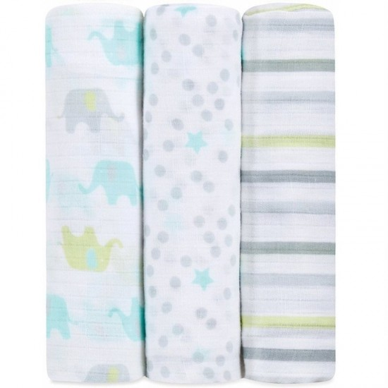 idealbaby Muslin Swaddles 3pcs - Dreamy