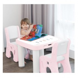 Ifam Table & Chairs Set - Pink
