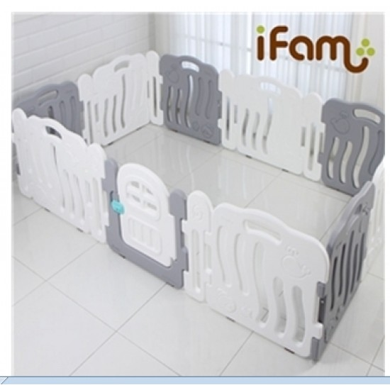 Ifam SHELL BABY Room with connect panel - Grey -246 x 149 cm