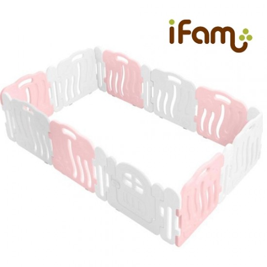 Ifam SHELL BABY Room with connect panel - Pink -246 x 149 cm