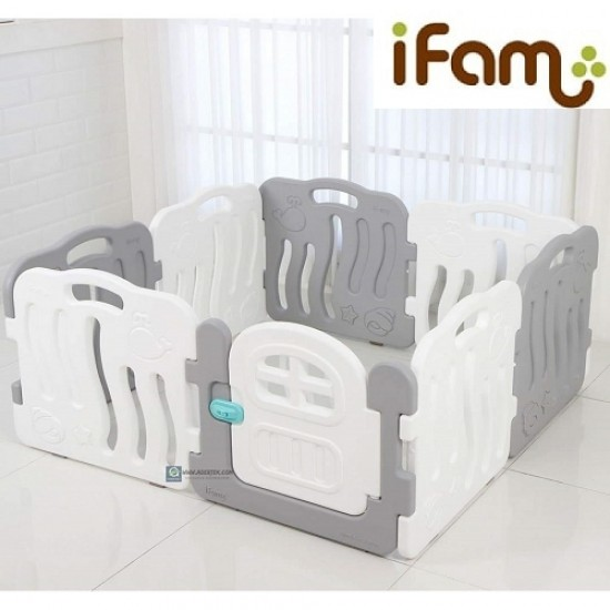 Ifam SHELL BABY Room - Grey -133 x 133 cm
