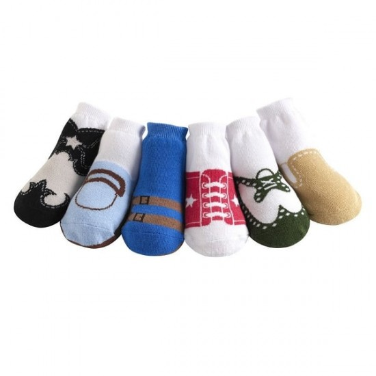 Jazzy Toes Baby Boys Socks 6 Pairs Gift Box,  12 -24 m
