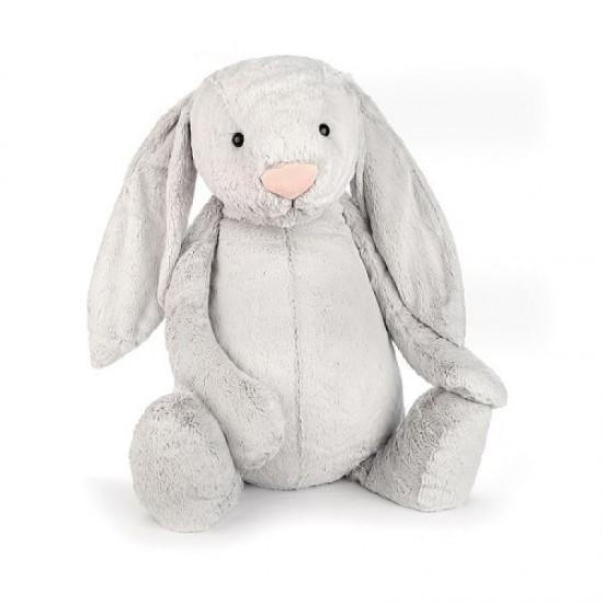 Jellycat Bashful Silver Bunny Really Really Big 108 cm