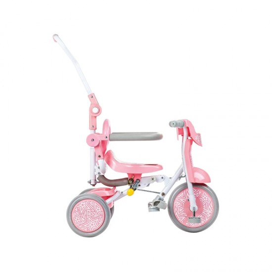 Baby Star x Kids Star Foldable Tricycle - Sweet Pink