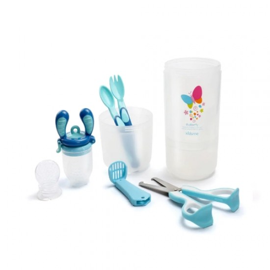 Kidsme Baby Travel Easy Set with Food Container - Aqua