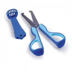 Kidsme 3-in-1 Food Scissors Aquamrine