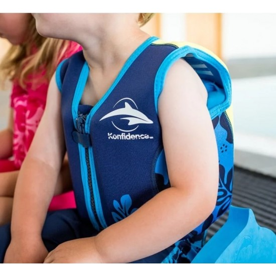 Konfidence Swim Jacket - Blue Plam