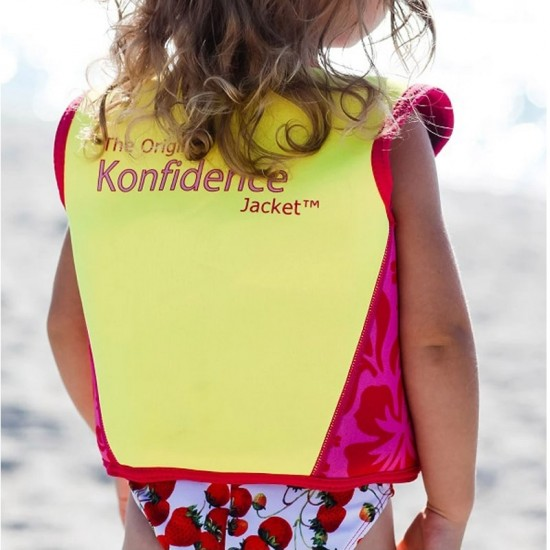 Konfidence Swim Jacket - Navy / Pink Hibicus