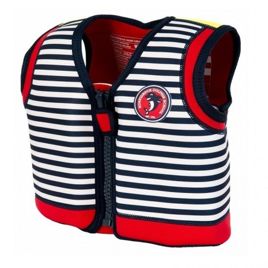 Konfidence Swim Jacket - Blue Stripe