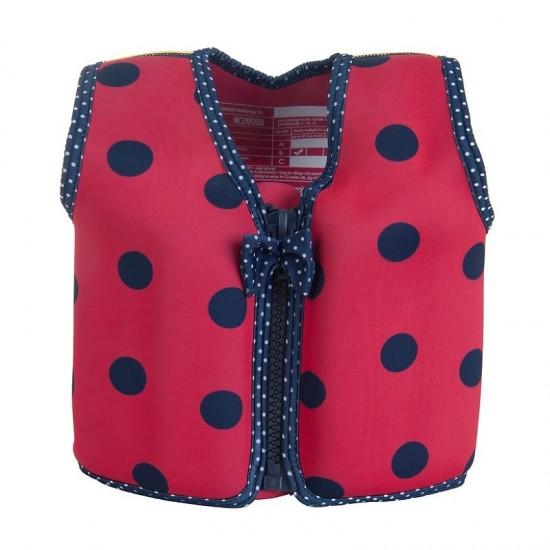 Konfidence Swim Jacket - Ladybird Spot