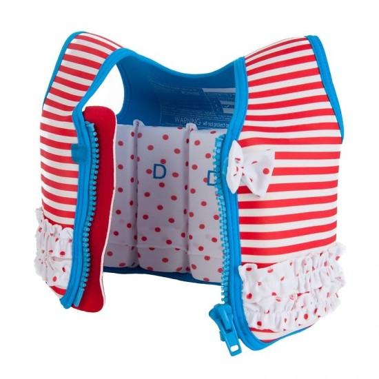 Konfidence Swim Jacket - Red Stripe