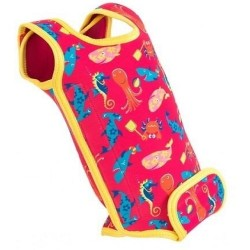 Konfidence Babywarma Wetsuits - Sea Friends Pink / Yellow