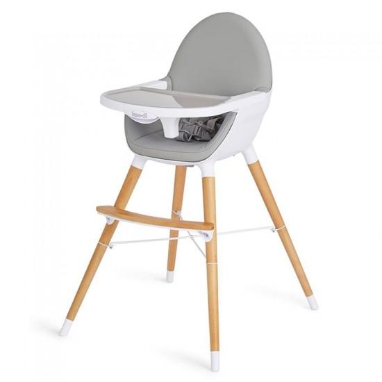 Koodi Duo Wooden Highchair - Grey