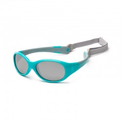 Koolsun Flex Baby Sunglasses - Aqua Grey 0-3 yrs