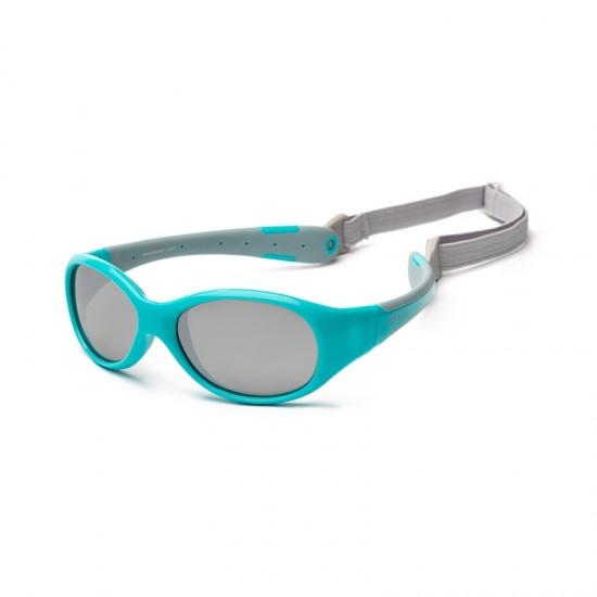 Koolsun Flex Baby Sunglasses - Aqua Grey 0-3 yrs