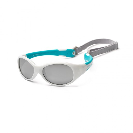 Koolsun Flex Kids Sunglasses - White Aqua 3-6 yrs
