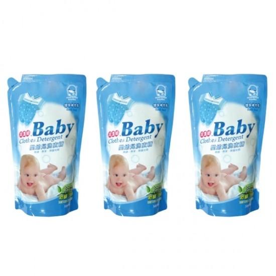 Kuku Duckbill Baby Clothing Detergent Value Pack - 1000ml x 3 Pack