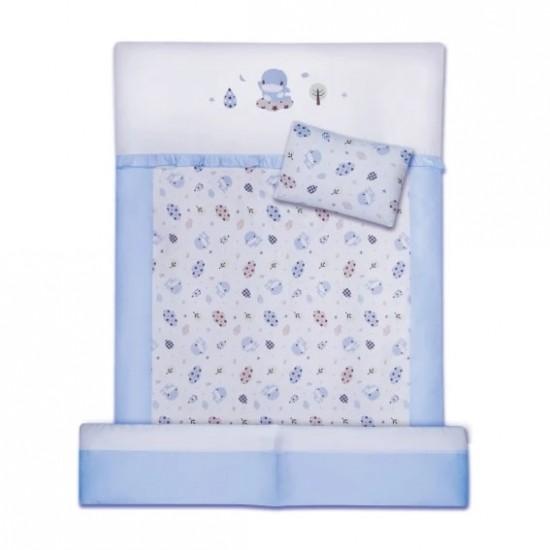 KuKu Duckbill 8 pcs Baby Bed Set - Blue