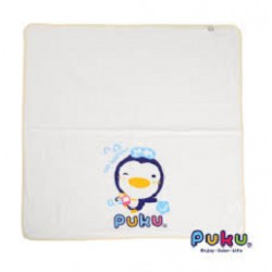 Puku Baby Bath Towel (white) - 90 x 90 cm