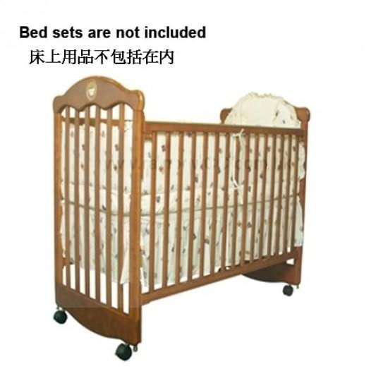 """LA Baby Cot   (2800BI)  Brown - 26.5"""" x 49.5"""""""