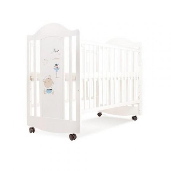 "LA Baby Baby Cot  (15010)  White - 26"" x 49.5"""