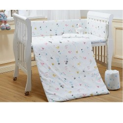 Lenny World Baby Muslin Bedding Set - Birdie Morning (9 pcs)