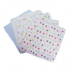Lenny World Cotton Gauze Kerchief - 5 pcs