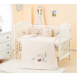 Lenny World Baby Knitted Bedding Set (9 pcs) - Happy Bear
