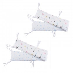 Lenny World Baby Muslin Crib Bumper - Birdie Morning