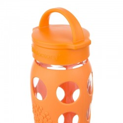 Lifefactory 22oz Glass Bottle with Classic Cap - Orange