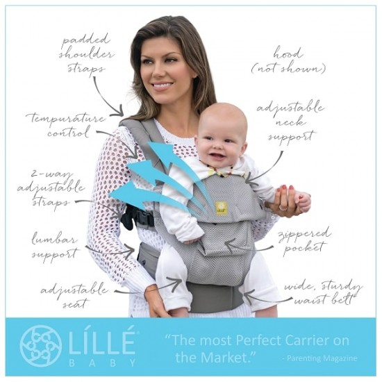 LILLE BABY COMPLETE Airflow Baby Carrier - Navy
