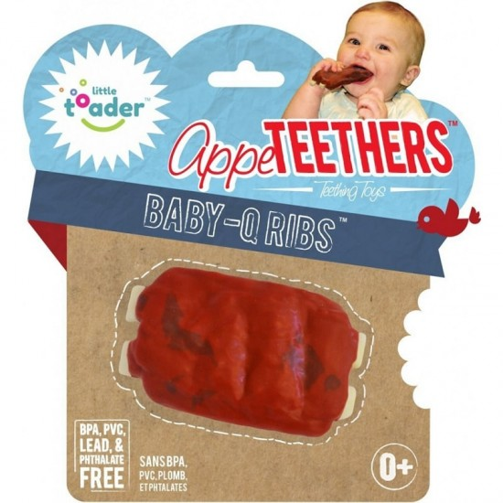 Little toader Teethers - baby q ribs