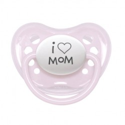 littlemico Pacifier 5m+ - I love Mom (pink)