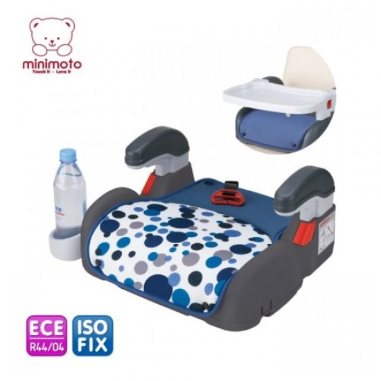 Minimoto ISOFIX 2 in 1 booster with 2 cushions - Blue