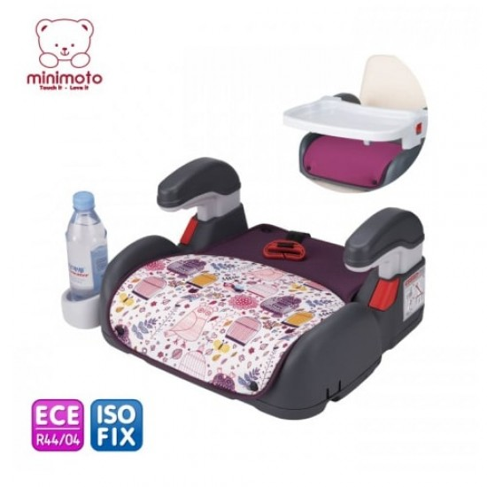 Minimoto ISOFIX 2 in 1 booster with 2 cushions - Purple