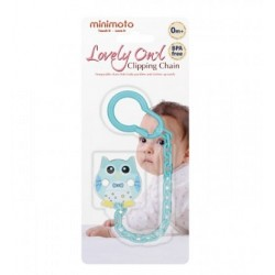 Minimoto Loverly Owl Clipping chain - Blue