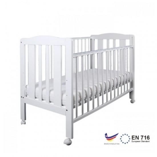 "Minimoto Malysia Kembang Semangkok Wood Large Baby Cot - 49 x 27"" - White"