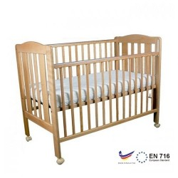 "Minimoto Malysia Kembang Semangkok Wood Large Baby Cot - 49 x 27"" - Natural"