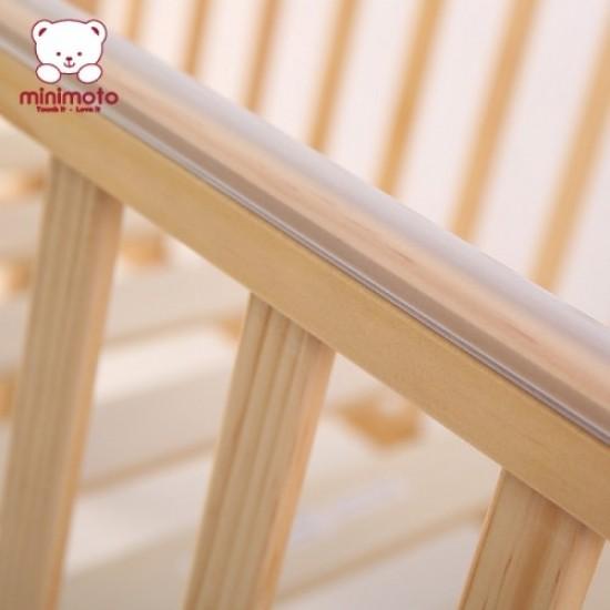 """Minimoto Malysia Kembang Semangkok Wood Large Baby Cot - 49 x 27"""" - Natural"""
